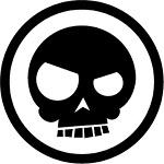 Triple Aught Design Mean Skull Sticker PVC