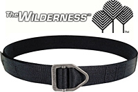 "Wilderness Titanium Instructor Belt Black / 1.5"" / 5-Stitch"