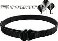 """Wilderness Frequent Flyer Belt Black / 1.5"""" / 3-Stitch"""